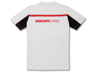 ショートシャツDucatiCorse14白_3